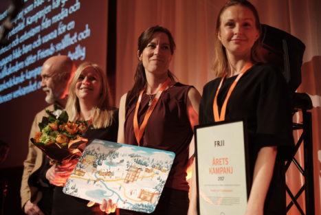 FRIENDS vann Årets Kampanj med Snällkalendern. Foto: Johann Lingaas Türk