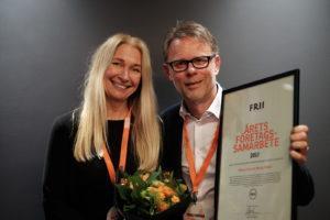 Birgitta Wallström, brand manager, Stena Line och Tomas Fransson, Sverigechef, Mercy Ships. Foto: Johanna Lingaas Türk