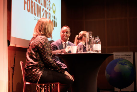 Helene Benno och Ahmed Abdirahman, Insamlingsforum 2018
