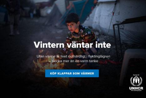 Sprid värme i jul - stöd Sverige för UNHCR
