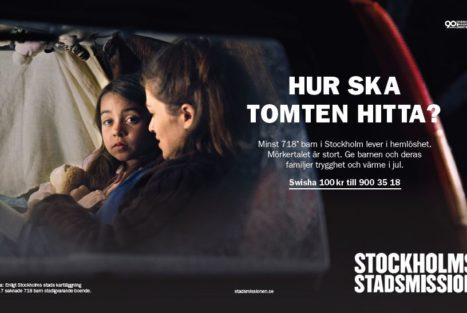 Stöd Stockholms Stadsmission hjälpa barn som lever i hemlöshet