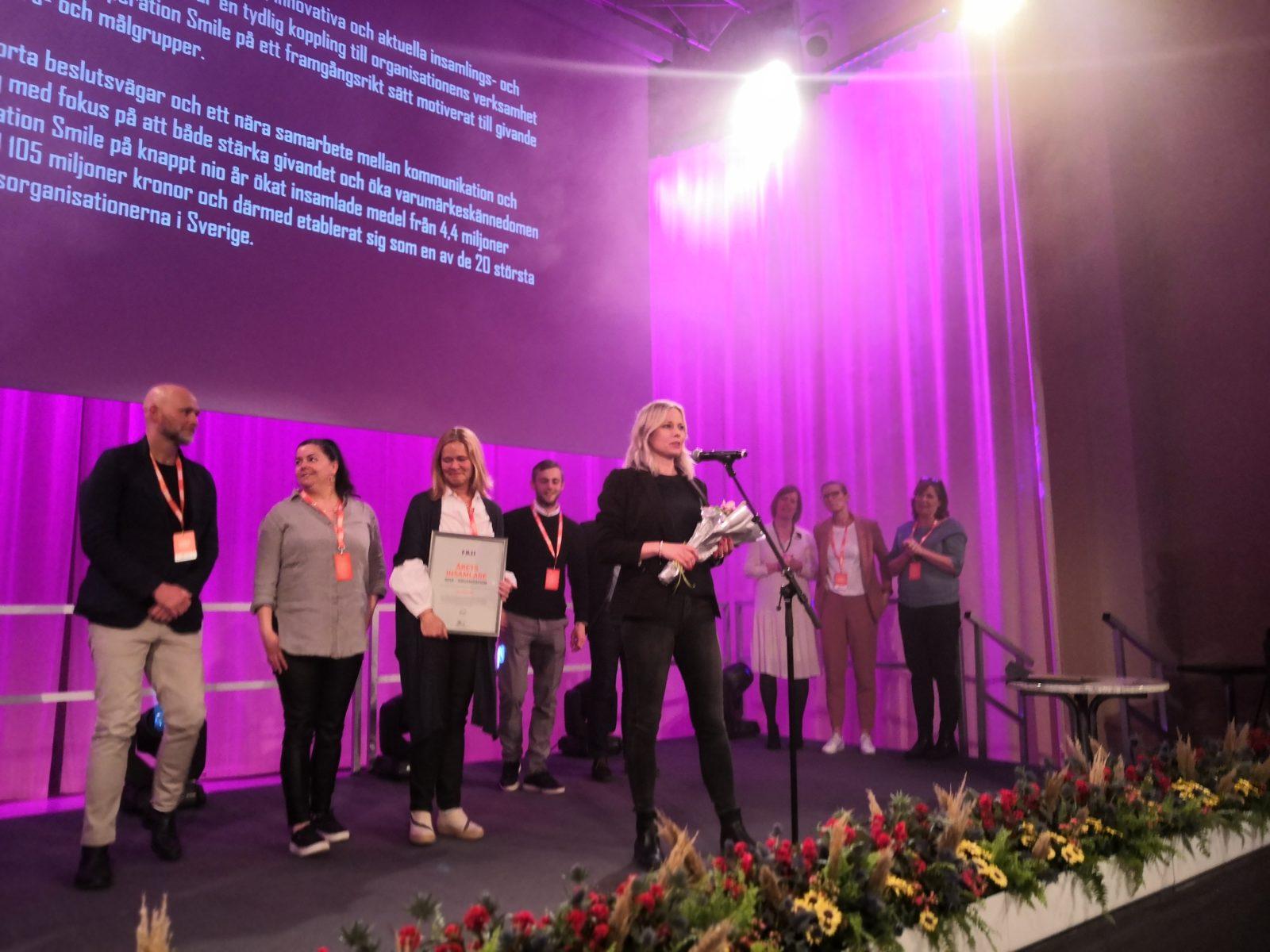 Operation Smile - vinnare årets Insamlare 2018 - Organisation